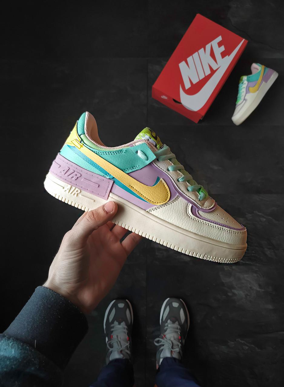 Женские кроссовки  Nike Air Force Shadow Pastel
