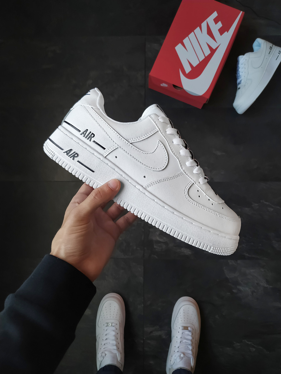 Мужские кроссовки Nike Air Force 1 Added Air белые