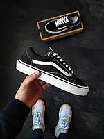 Женские кеды Vans Old Skool черные, фото 1