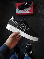 Мужские кроссовки Nike Air Force 1,07 черные, фото 1