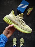 Мужские кроссовки Adidas Yeezy Boost 350 салатневый, фото 1