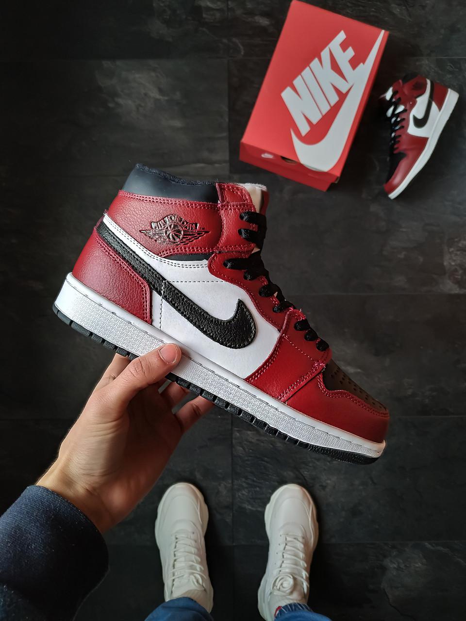 Зимние кроссовки Nike Air Jordan Retro 1 мужские и женские