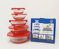 Набор стеклянных емкостей с крышками Cooking Bowl оригинал