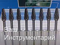 Борфреза по металлу (GХ) 6х10х3 сводчатая остроносая твердосплавная