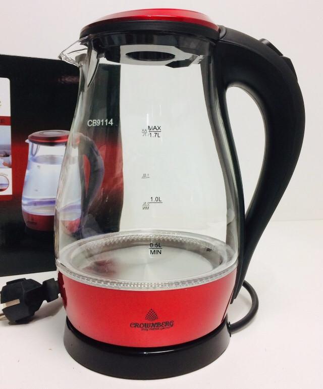 Скляний Чайник Crownberg CB-9114 (6 шт/ящ)