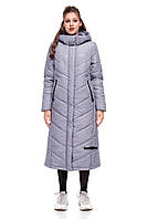 Зимняя женская куртка ORIGA Ребекка 44 Темно-серый милитари