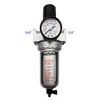 """Фильтр для воздуха с регулятором давления 1/4"""" LICOTA (PAP-C206A)"""