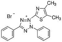 L11939 Тиазолил голубой тетразолиум бромид (3-(4,5-Dimethyl-2-thiazolyl)-2,5-diphenyl-2H-tetrazolium bromide), 98%, 5 г (Alfa)