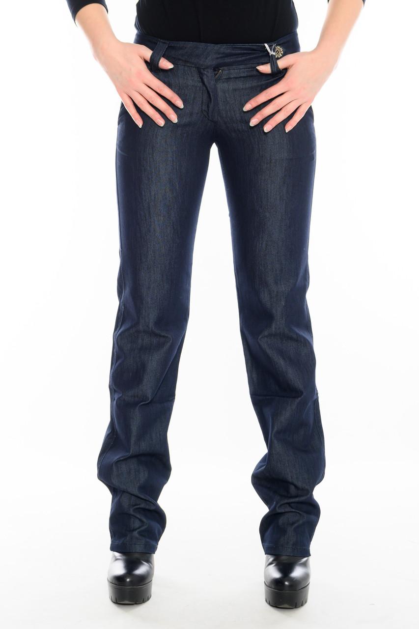 Джинсы женские стрейчевые Омат 9651 с косыми карманами синие