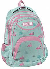 Женский городской рюкзак с фламинго PASO, Польша 19L