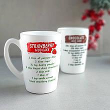 Белая чайная кружка с надписями Luminarc New morning Cake Recipes 320 мл (Q3835)