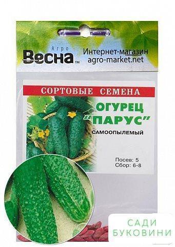 Огірок оброблений 'Парус' (Зипер) ТМ 'Весна' 0.5 г