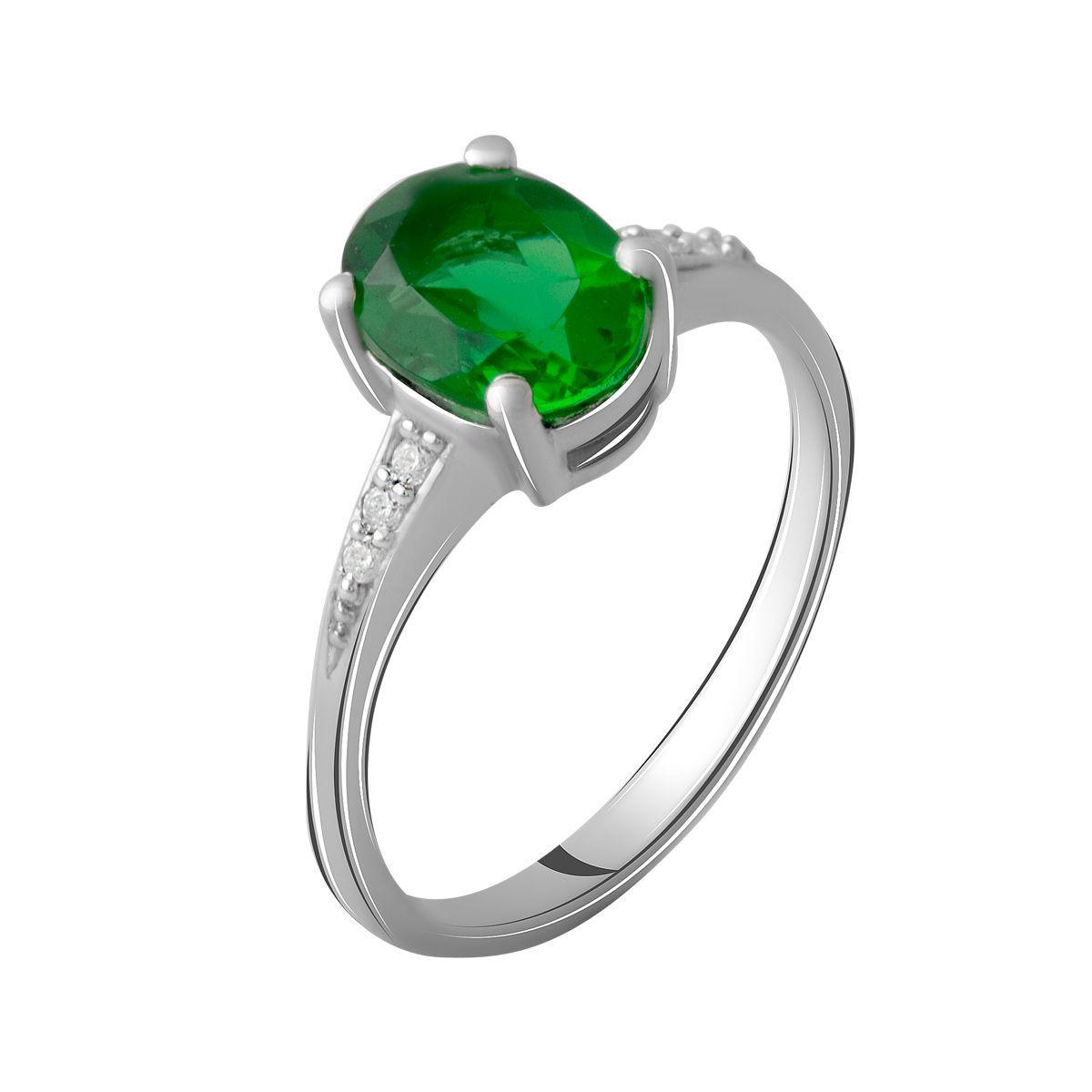 Серебряное кольцо DreamJewelry с изумрудом nano (1957585) 18.5 размер