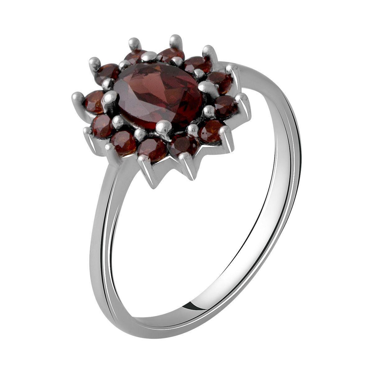 Серебряное кольцо DreamJewelry с натуральным гранатом 1.375ct (1965535) 18.5 размер