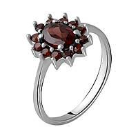 Серебряное кольцо DreamJewelry с натуральным гранатом 1.375ct (1965535) 18.5 размер, фото 1