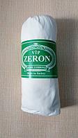 Турецкая трикотажная Простынь на резинке на односпальную кровать диван Zeron 90х200 белая (16586)