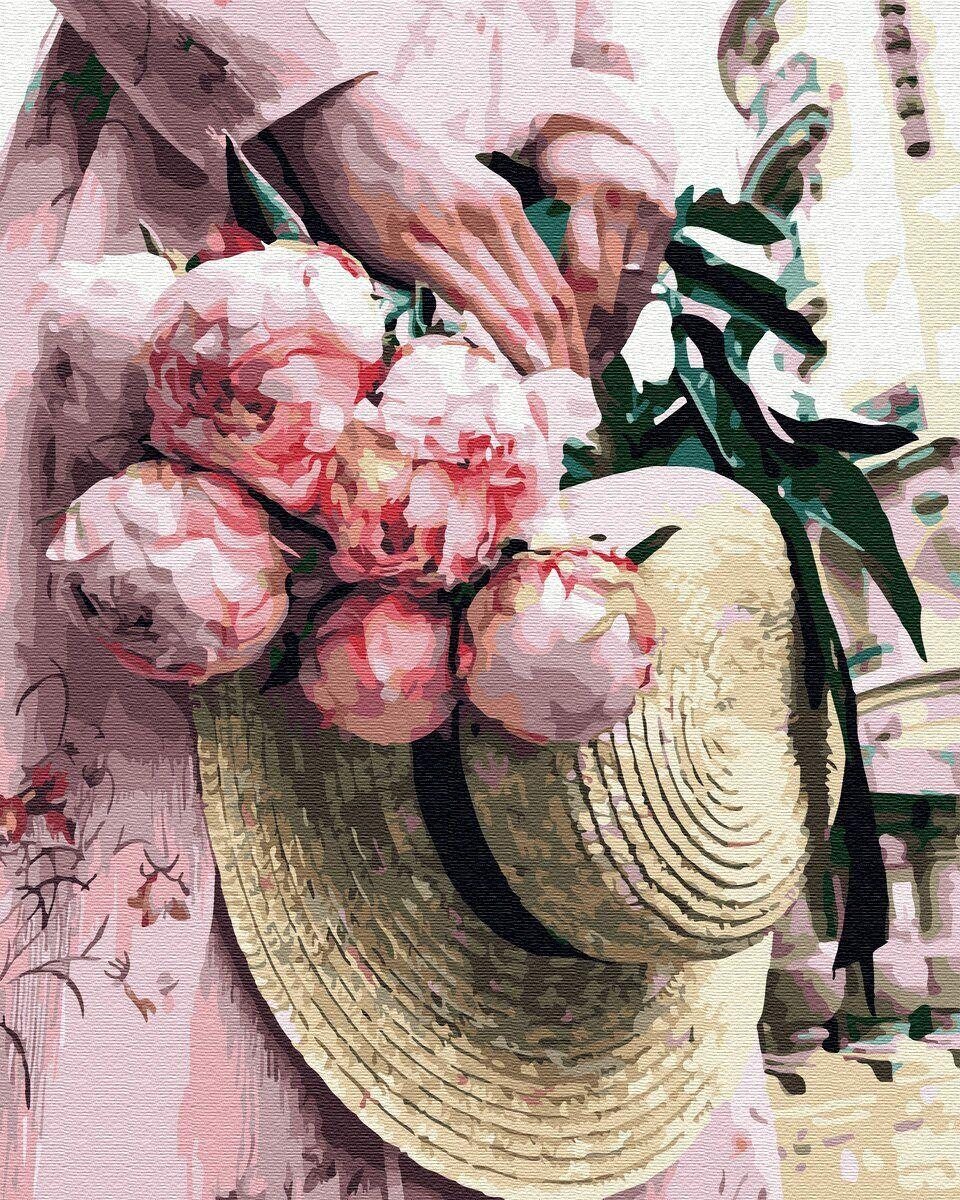 BK-GX34799 Картина-раскраска по номерам Романтическая прогулка, Без коробки