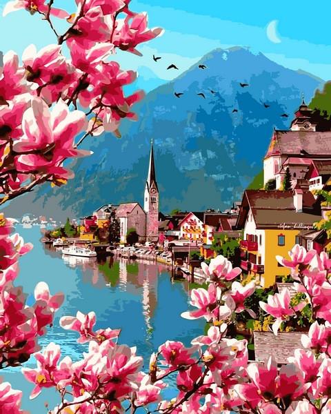 VP1310 Картина-раскраска по номерам Цветение в Гельштате