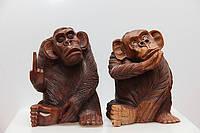 Декоративные резные статуэтки обезьян - цена за 1 шт.
