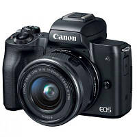 Цифровой фотоаппарат Canon EOS M50 + 15-45 IS STM + 22 STM Double Kit Black (2680C055)