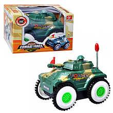 Машина Перевертыш арт 6106  танк, на батарейке, в коробке 14-9 см
