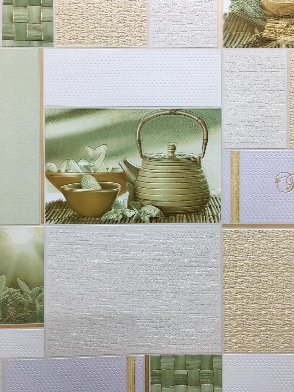 """Обои виниловые на бумаге, супер мойка, """"мятный""""  5796-01 для кухни, прихожей, холла и др. комнат  0,53*10"""