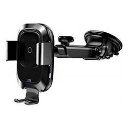 Тримач з затиском Baseus Smart Vehicle Bracket Wireless Charger WXZN-B01 Black