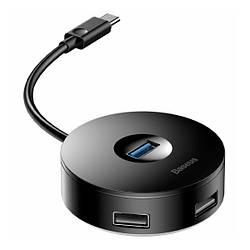 USB-хаб Baseus Round Hub USB Type-C Black