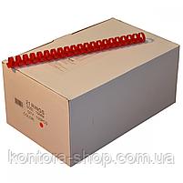 Пружини пластикові 19 мм червоні (100 штук), фото 2