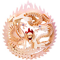 3D-пазл Игрушки из дерева Дракон и феникс М035, КОД: 2436585