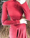 Платье трикотажное миди. Цвет: черный, красный , мокко, фото 3
