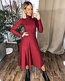 Платье трикотажное миди. Цвет: черный, красный , мокко, фото 7