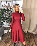 Платье трикотажное миди. Цвет: черный, красный , мокко, фото 8