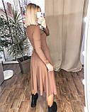Платье женское миди трикотажное Цвета: мокко, чёрный, бордо, фото 2