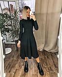 Платье женское миди трикотажное Цвета: мокко, чёрный, бордо, фото 5