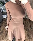 Платье женское миди трикотажное Цвета: мокко, чёрный, бордо, фото 6