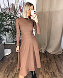 Платье женское миди трикотажное Цвета: мокко, чёрный, бордо, фото 10