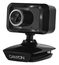Веб-камера 1.0 Мп з мікрофоном Canyon CNE-CWC3N Black