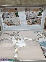 Комплект покривала з постелю Nazenin Капучіно