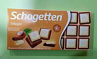 Шоколад Schogetten ореховая трилогия молочный и белый 100 г, фото 1