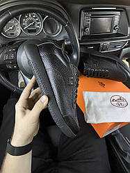 Мужские кроссовки Hermes Shoes Black (черные)