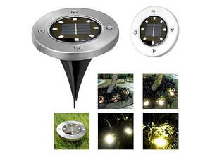 Уличный светильник на солнечной батарее Disk lights 4 led