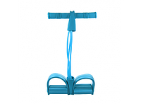 Эспандер для мышц ног, рук и груди Голубой
