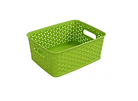 Пластиковая корзина для хранения вещей и мелочей Салатовая