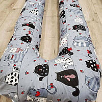 Подушка для беременных U(П)-360см(факт.высота-160см), разные цвета
