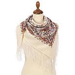 Балаганчик 203-5, павлопосадский платок шерстяной  с шелковой бахромой, фото 2
