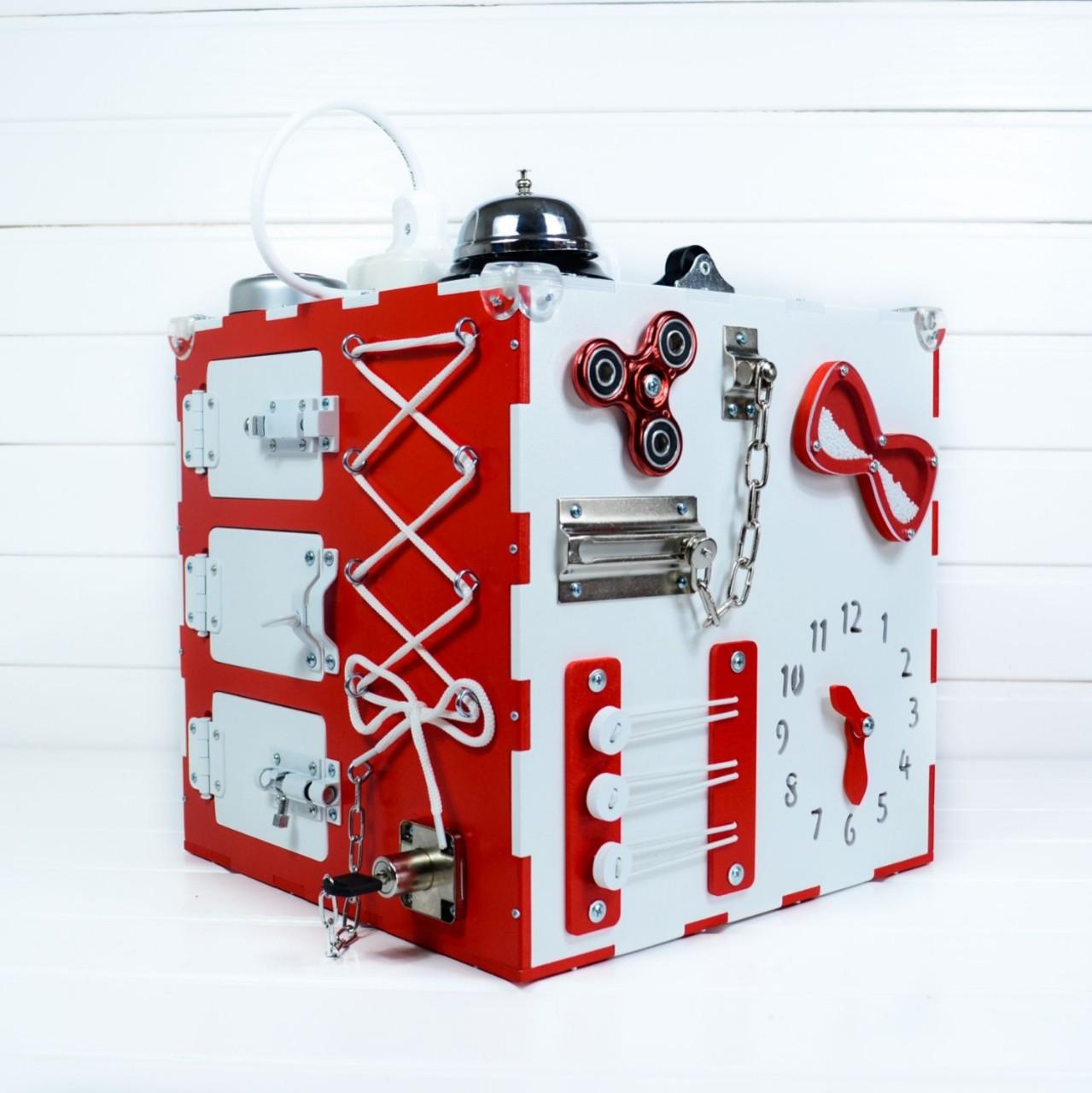 Busy Cube Красный с белым (hub_bVsC69415)