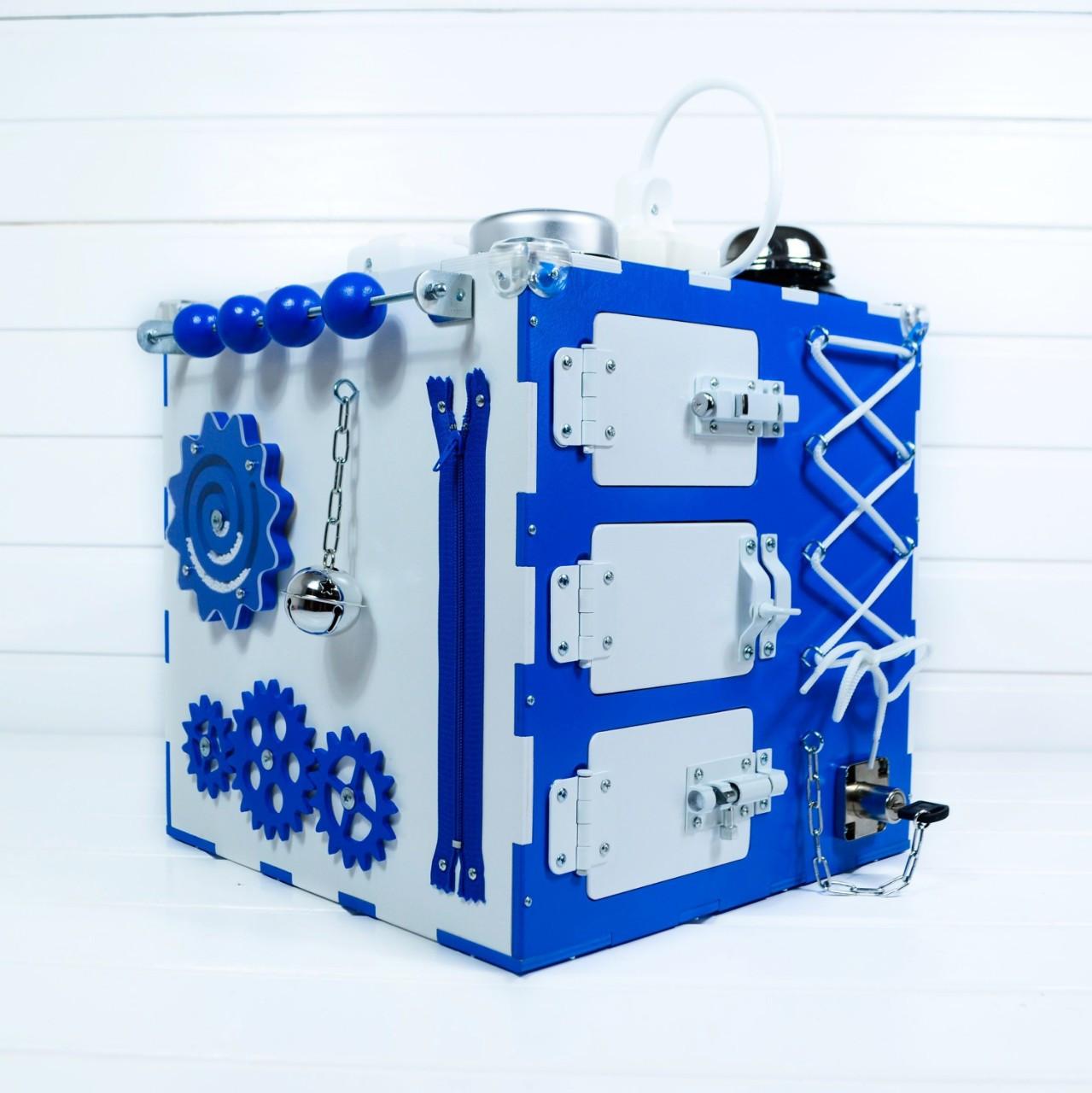 Развивающая игрушка Tornado Busy Cube Бело-синяя (hub_cqND66022)