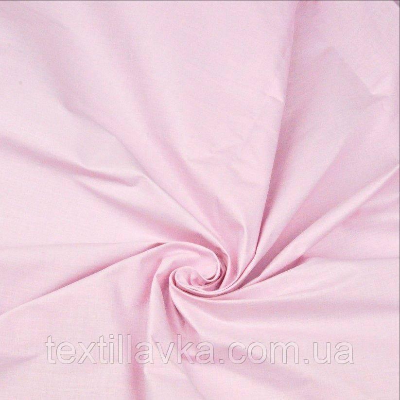 Ткань хлопок для рукоделия светло-розовая