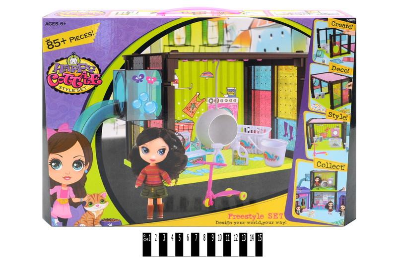 Кукольный домик Happy Cottage прачечная MiC (5005)